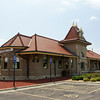 Restored Union Pacific depot in Manhattan, KS.