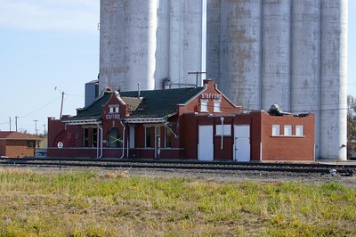 Stafford, KS Santa Fe depot under threat of demolition.