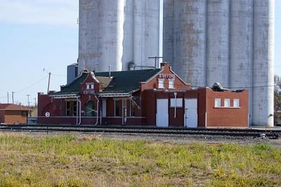 Stafford, KS Santa Fe depot under threat of demolition.