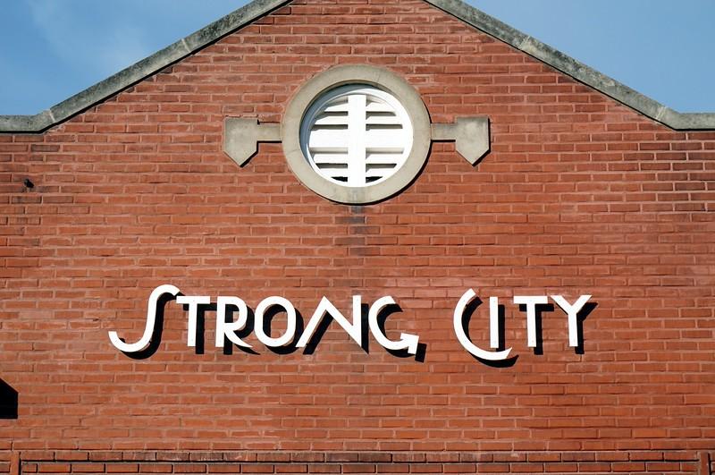 ATSF depot in Strong City, KS undergoing restoration