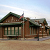 Impressive brick ATSF depot in Halstead, KS.