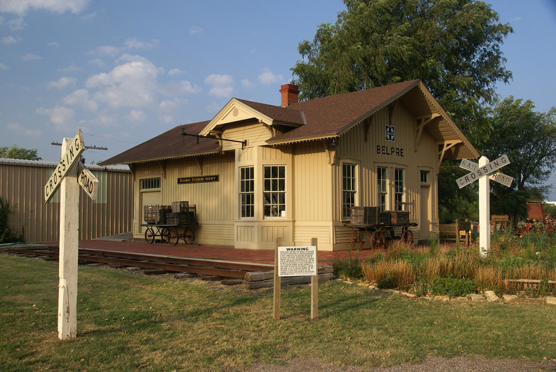 Belpre, KS ATSF depot now located on the museum grounds in Great Bend, KS.