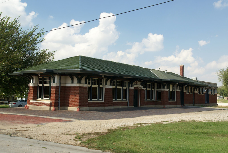 Restored Santa Fe depot in Eureka, KS