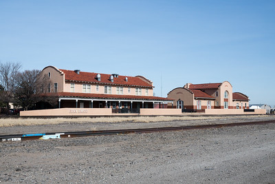 Rock Island hotel and depot in Liberal, KS.