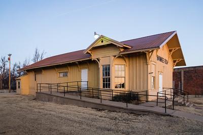 Pawnee Rock, KS Santa Fe depot.