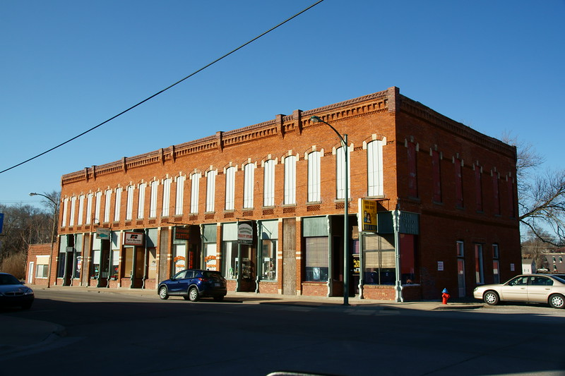 The Chicago & Great Western had a depot in the right side of this building in Leavenworth, KS.