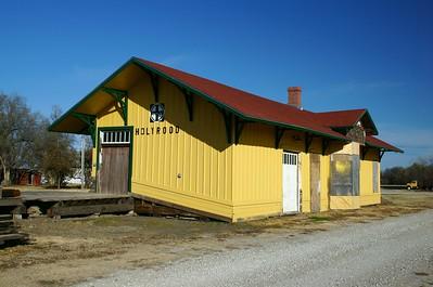 Santa Fe depot in Holyrood, KS undergoing restoration.