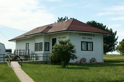 Santa Fe depot in Osborne, KS.