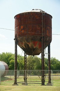 ATSF water tower in Lincoln, KS