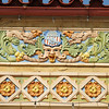 Terra cotta detailing found on the Marysville, KS depot.  The Union Pacific depot in Abilene, KS has similar designs.