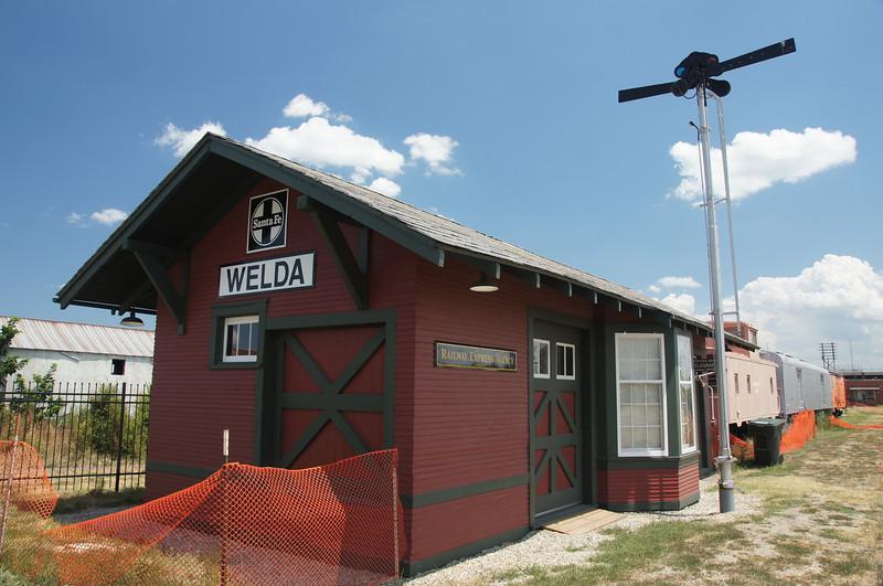 Welda, KS ATSF depot relocated to Topeka, KS
