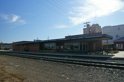 Former Santa Fe depot in Hutchinson, KS.  Part of it is still used by Amtrak.