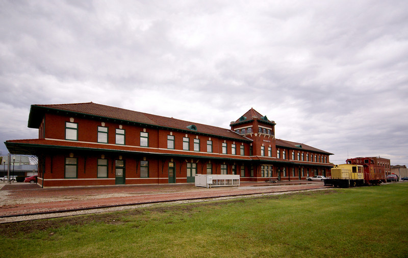Former Santa Fe station and Harvey House in Chanute, KS.