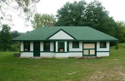 Chicago & Alton depot in Blue Springs, MO.