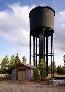 Oregon Short Line water tower in West Yellowstone, MT.