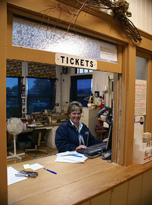 Amtrak Ticket Agent at Glacier Park, MT.