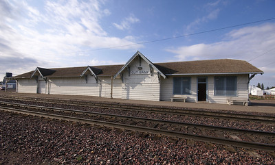Cut Bank, MT Great Northern Depot.  Now used by Amtrak.
