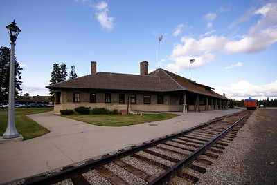 Oregon Short Line depot in West Yellowstone, MT was the western gateway into Yellowstone National Park.