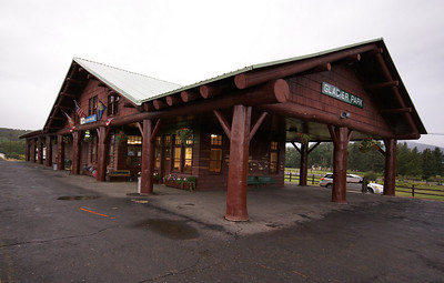 Glacier Park depot in East Glacier, MT.  Built by the Great Northern and now used by Amtrak.