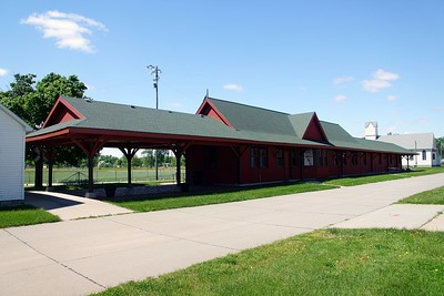 Chicago & Northwestern depot in West Point, NE.