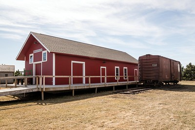 Replica Chicago & Northwestern depot in Henderson, NE