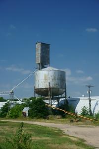 CB&Q water tower in Grand Island, NE.