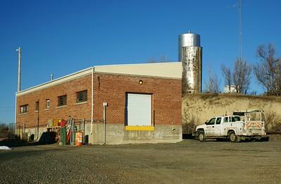 New CB&Q depot in Trenton, NE.