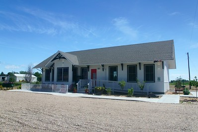 Restored Union Pacific depot in Paxton, NE.