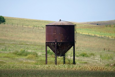 CB&Q water tower located outside of Greeley, NE.