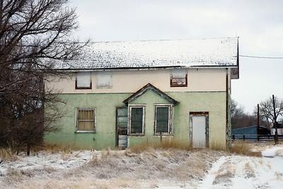 Abandoned CB&Q depot in Henry, NE.