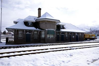 Oregon Short Line (Union Pacific) depot in Brigham, UT.