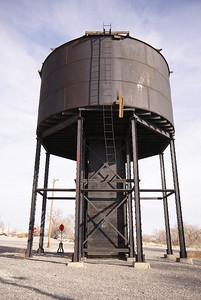Western Pacific water tower in Wendover, UT.