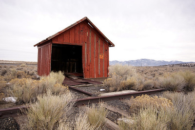 Nevada Northern motorcar shed in Cobre, NV.