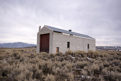 Nevada Northern engine house in Cobre, NV.