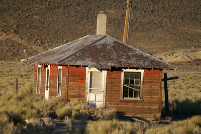This building is believed to have been the section foreman's house in Currie, NV.