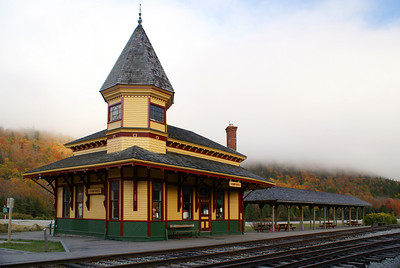 Crawford Notch Maine Central RR depot now used by the Conway Scenic RR