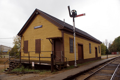 Conway, NH Boston & Maine freight depot now used by the Conway Scenic RR