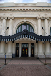Street entrance into the Union Station in Worcester, MA