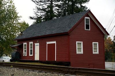 Grand Trunk Railroad freight depot in Mechanic Falls, ME.