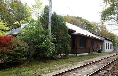 Maine Central depot in Ellsworth, ME.
