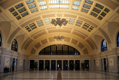 Interior view on Worcester, MA Union Station
