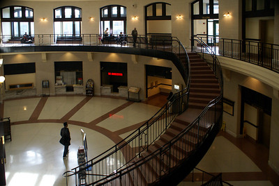 Concourse area of Worcester Union Station