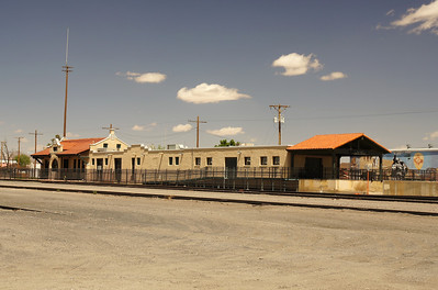 AT&SF depot in Las Cruces, NM.  Now serves as a museum.