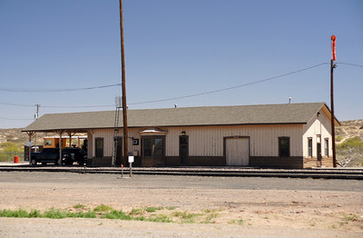 Santa FE depot in Rincon, NM.  This depot was originally a two-story depot which explains the different look compared to other Santa Fe wood depots.