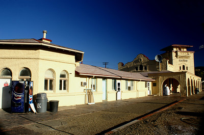 The 1904 ATSF depot in Raton, New Mexico has a very unique design.  It is still in railroad service as an Amtrak stop and offices for railroad personel