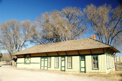 Capitan, NM El Paso & Northeastern railroad depot.