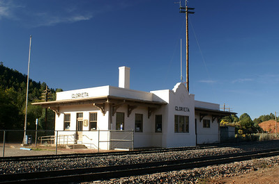 Glorieta, New Mexico ATSF depot now serves as a post office.