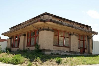 Remains of Shattuck, OK Santa Fe depot