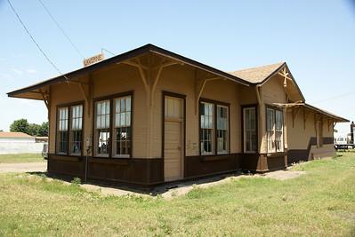 Wichita Falls & Northwestern depot in Laverne, OK