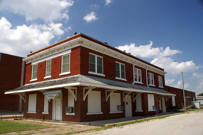 Oklahoma, New Mexico, & Pacific depot in Ardmore, OK.  This railroad was owner by the Ringling brothers of circus fame.  The line never made it out of the state of Oklahoma as the name indicates before they sold out to the Santa Fe.
